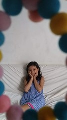 through a hole (ghostgirl_Annver) Tags: asia asian girl teen preteen child kid daughter sister family portrait hole sofa
