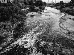 South Platte River - Denver, Colorado (BeerAndLoathing) Tags: pixelxl usa googlepixel bw summer google colorado denver august blackwhite 2018 android cellphone pixel downtown blackandwhite unitedstatesofamerica us