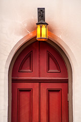 Church Door 3-0 F LR 2-15-19 J013 (sunspotimages) Tags: church light lamp lights lamps churchlight churchlights churchlamp churchlamps building buildings archicture