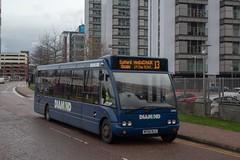 Diamond MX56NLU (Mike McNiven) Tags: diamond bus northwest rotala mediacityuk worsley salford salfordquays optare solo eccles depot