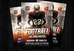 Football the final match flyer (amziz8457) Tags: abstract american art background ball champion championship college competition cup design download event flyer football game goal graphic league match play poster sport sports stadium team template tournament