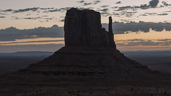 Butte Silhouette, Monument Valley (andre adams) Tags: usa roadtrip sunrise rocks travel landscape sand cinematic sky rock mountain arizona utah monumentvalley butte navajotribalpark silhouette
