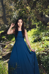 Julie (*KIKITA*) Tags: greaterlosangeles griffithpark losangeles losangelesportraitphotograph southbayphotographer erickagiulianiphotography fashion model outdoorportrait portraitphotographer losangelesportraitphotographer bluedress elegant nature beautiful longhair