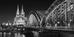 _MG_6717 - Köln classic (AlexDROP) Tags: 2015 köln cologne germany deutschland travel bw building urban architecture cathedral bridge river canon6d ef241054lis best iconic famous mustsee picturesque postcard lowkey