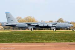 Boeing B-52H Stratofortress 60-0024/LA US Air Force RAF Fairford 28/03/19 (Shaun Schofield) Tags: buff b52h stratofortress bomber aircraft jet usaf raf fairford