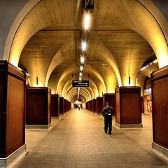 Arcade (Croydon Clicker) Tags: station railway arcade mall walkway underground people lights pillars arches architecture london londonbridge shop