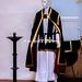 Bovino (FG), 2009, Esposizione di paramenti sacri usati per i riti della Settimana Santa.