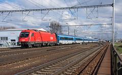 OBB 1216 238 - Breclav (Richard Hagues Photography) Tags: 1216 1216239 obb railjet rj75 prague graz breclav train trains railways