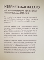 Museum Placard Introducing the Irish and Internation Art Exhibit (Suni Lynn Lee) Tags: ulster museum belfast art history