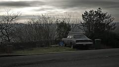 Australian Chrysler Valiant (heresthething...) Tags: valiant chysler australian car auto rust abandoned panasonic g7 lumix micro43rds prime 50mm sedan england uk glastonbury mopar