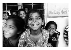 play's the thing (handheld-films) Tags: india portrait children school education indian rural primary schooling group outdoors playground girl rajasthan blackandwhite pupil village monochrome excitement exuberance happiness joy smiling fun play