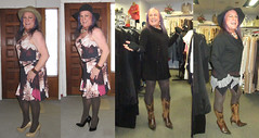 Posing and shopping - Poser et essayer des vêtements (ShaeGuerin) Tags: hair ownhair longhair hat brunette crossdresser crossdressing genderqueer nails lips tilf tgirl transvestite transgender tranny trannybabe tv cd mature gurl tgurl mtf m2f xdresser tg trans travesti manicure lipstick pretty cute feminized fashion enfemme feminised femme feminine makeover makeup cosmetics passable dressedasagirl crossdressed crossdress boytogirl portrait girly ladylike classy cougar fuckable sensual seductive sexy boobs legs leggy stockings highheels cfmshoes stilettos public tights boots