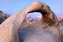 Mobius Arch Sunrise (~Arles) Tags: mobiusarch alabamahills lonepine easternsierra owensvalley sierranevada mountains rock arch stone snow sunrise bluehour california outdoors nature landscape