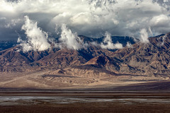 Leading the Charge (Kirk Lougheed) Tags: badwaterroad california deathvalley deathvalleynationalpark panamintmountains usa unitedstates cloud landscape mountain nationalpark outdoor park sky
