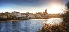 Varilhes #6 (Thaurin Geoffrey Photographie) Tags: france ariege varilhes city ville paysage landscape nature cityscape sun sunlight sunset light soleil coucher lumière rayons lighting water eau river riviere riviera arbre tree eglise love amateur me sony a7ii sky ciel cloud nuage color photoshop lightroom start sunstart