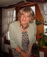 A Serious Woman (Laurette Victoria) Tags: necklace woman laurette dress animalprint