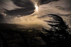 Tempesta. (Enzo Ghignoni) Tags: tempesta temporale pioggia alberi nuvole case campi boschi
