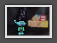 Troll with Blocks (N.the.Kudzu) Tags: tabletop toy troll wooden blocks canondslr canoneflens canon430ex flash photoscape frame home