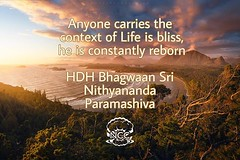 Reposted from @nithyanandayoga - Anyone carries the context of Life is bliss, he is constantly reborn. Understand, this is the greatest gift any Guru can give it to disciple. I am giving it to you, take it. This understanding, this understanding – appreci (sri.sadyojata) Tags: enlightenment consciousness awakening integrity responsibility enriching authenticity transformation yoga meditation