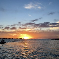 Sunset on the Barwon River. (The Pocket Rocket, On and Off.) Tags: sunset barwonriver oceangrove victoria australia