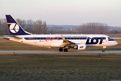 SP-LII (Andras Regos) Tags: aviation aircraft plane fly airport bud lhbp spotter spotting lot embraer ejet erj175 erj175lr speciallivery 600thejet