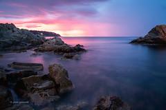 Costa Brava Sunrise (pietkagab) Tags: sunrise sea mediterranean shore coast rocks rocky craggy color morning lloretdemar catalonia spain spanish sky europe european pietkagab photography pentax piotrgaborek sonya7 nature holidays adventure