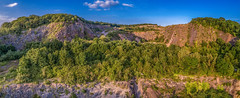 Sandford Quarry Pano (DavidWinshipPhotography) Tags: sandford quarry pano panorama large countryside cliffs sky clouds nature hills amazing uk cheddar banwell axbridge south west woods summer old wiscombe mendip outdoor pursuits snowsport centre village hill road bs25 5pq burrington oolite mid 19th century stone alfred weeks lime co ltd conygar quarries roads reconstruction kilns county council shipham david winship