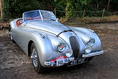 1954 Jaguar XK120 451 YUF (BIKEPILOT, Thx for + 5,000,000 views) Tags: brooklandsnewyearsdaygathering brooklandsmuseum weybridge surrey uk 2019 1954 jaguar xk120 451yuf metallic grey england britain car automobile vehicle transport classic vintage sportscar icon