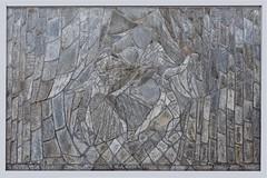 W.J.Rozendaal  leisteenmozaik (Roel Wijnants) Tags: ccbync roelwijnants roelwijnantsfotografie roel1943 kunstenaar ontwerper wjrozendaal segbroekcollege school sjoerdschamhart leisteen leiplaten gevel wandelvondst 2019 absoluteleythehague hofstijl wandelen fietsen denhaag thehague leesdegebruiksvoorwaarden cityilove slate leisteenmozaik