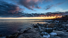 Sunset at Boön (tonyguest) Tags: boön sunset clouds sea seascape rocks karlshamn blekinge sverige sweden tonyguest