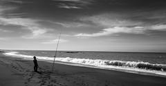 Fisherman's Prayer _ bw (Joe Josephs: 3,166,284 views - thank you) Tags: californiacoast californialandscape landscape landscapephotography pacificcoasthighway travel travelphotography westcoast californiatravel outdoorphotography coastalnature naturephotography fishing fisherman bw monochrome blackandwhite blackandwhitelandscape photojournalism ocean beach sand sky