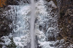 Multnomah Falls winter scene #3 - explored (maytag97) Tags: maytag97 nikon d750 winter season waterfall ice frozen water icicle benson bridge cliff geology falls multnomah nature river oregon landscape columbia gorge cold snow white beautiful scenic beauty outdoor area background natural travel object tourism motion vertical weather freeze temperature national falling icy forest explored inexplore tamron 150600 150 600
