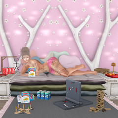 #442 - Game Night (Prettybubbles.) Tags: sl secondlife whorecouture stealthic suicidedollz epoch endlesspaintattoos foxcity chezmoi ar junkfood hipster insurrektion hive mossmink