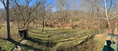 clear sky over brown winter (Mykl i am) Tags: brown february green hearthhill outhouse panorama river westfork winter