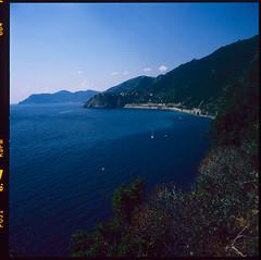 Sea by the Cinque Terre (MikkoPylkko) Tags: hasselblad 500cm carl zeiss distagon 50mm fuji provia 100f epson v700 betterscanning cinque terre riomaggiore italy la spezia