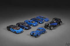 Bugatti Group Shot (Maarten O.) Tags: nikon d7100 with afs dx nikkor 18105mm f3556g ed vr bugatti chironkyosho blackblue eb164 veyron pur sang chrome noir black blue dark blueblue blackred showcar blackyellow greysilver eb183 chiron concept eb110 gt type 41 royale coupe napoleon 57 sc atlantic peter mullin rb pope ralph lauren restored autoart auto art minichamps heinrich bauer 118 diecast die cast scale model