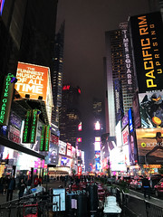 Times Square night lights displays New York (Aqua and Coral Imagery) Tags: nyc newyork manhattan bigapple night lights downtown city buildings outdoors outside timessquare colorful displays ads