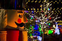 Christmas Decorations on a Cold Night (aaronrhawkins) Tags: nutcracker christmas decorations lights led celebration holiday bright colorful riverwoods mall provo utah night dark winter festival aaronhawkins