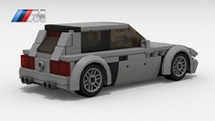 BMW M Coupe (rear view) (LegoGuyTom) Tags: bmw z3 classic vintage roadster speed speedster sport sports convertible 2door 1990s 2000s german germany european europe lego legos ldd digital designer dropbox download city car cars pov povray lxf m coupe m3
