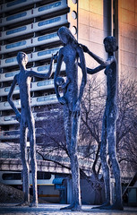 Armengol Statues Calgary (Ray Mines Photography) Tags: armengol statues sculpture canada calgary park landmark tourism travel street