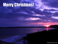 Merry Christmas! (JamesEyeViewPhotography) Tags: sunrise christmas greatlakes lakemichigan northernmichigan sky clouds snow beach water winter michigan morning sleepingbeardunesnationallakeshore jameseyeviewphotography
