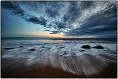 Broad Beach Sunset, Malibu. (drpeterrath) Tags: landscape seascape color sun sky clouds water pacific ocean rocks beach sand longexposure outdoor capture1 captureone canon eos 5dsr malibu losangeles california calilife