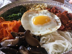 KoreanFood (tombrewster6154) Tags: korean egg mushrooms rice carrot meat noodles white brussel sprouts mothers day 2018 mmxviii boston area massachusetts springtime