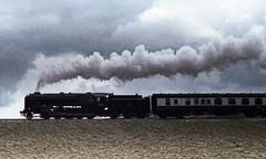 92220 Evening Star in profile   Garsdale Head 1978 (Barrytaxi) Tags: steam locomotives settle carlisle railway garsdale longdrag