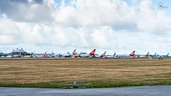 The Ramp at BGI Winter Season 2018/2019 (Terris Scott Photography) Tags: aircraft airplane aviation plane spotting nikon d750 tamron 70200mm f28 travel barbados jet jetliner virgin atlantic 747 400 queen skies british airways 777 200er airbus a330 737 787 dreamliner ramp shot bgi grass sky