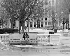 Alone (RW Sinclair) Tags: 12 2019 56mm chicago february fuji fujifilm fujinon ilc mirrorless winter xt1 xf56f12 xf56mmf12r f12 prime telephoto street streetphotography urban people bnw bw blackandwhite noir monochrome valentine valentines day heart balloon