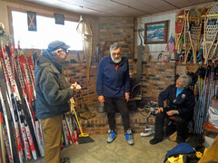 At Sylvania Outfitters after skiing (M.R.Kirk) Tags: sylvania outfittersskiingskixc ski watersmeet up