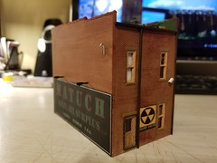 REAR W/ SECURITY DOOR (Set and Centered) Tags: ho scale rix products smalltown usa custom structure local business small model railroad railroading military surplus 187 johns place