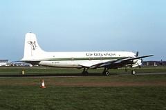 G-SIXC DC6 Air Atlantique CVT 1991 (cvtperson) Tags: gsixc dc6 air atlantique coventry airport cvt egbe