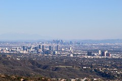 Los Angeles can be seen from distance
